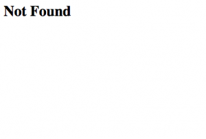 A typical 404 Page Not Found error message
