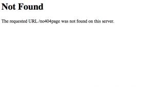 Standard 404 page not found error