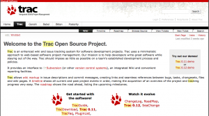 Trac - open source issue tracking software with project management tools and a wiki