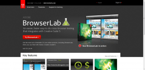 Adobe Browserlab takes screenshots of your web page in several different web browsers