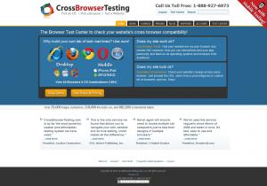 CrossBrowserTesting.com home page