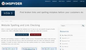 Inspyder InSite v3 website spell checker and link checking tool
