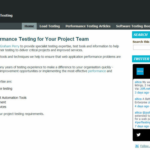 Altica - Web Application Performance Testing