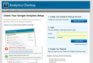 Check your Google Analytics with Analytics Checkup