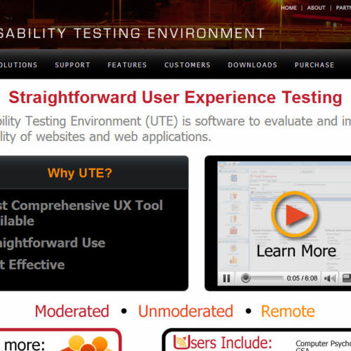 Usability Testing Environment