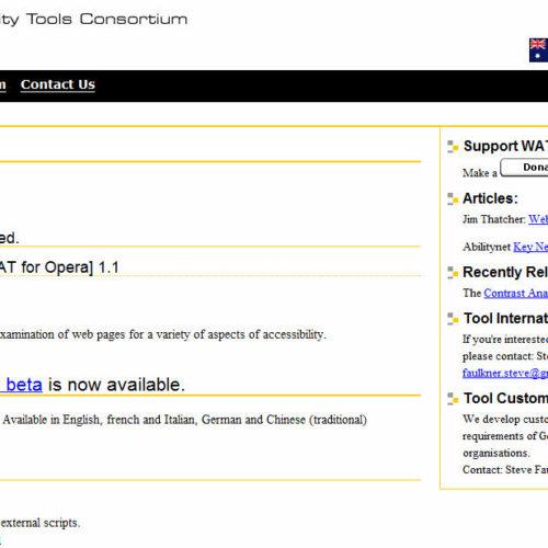 Wat C Accessibility Tools