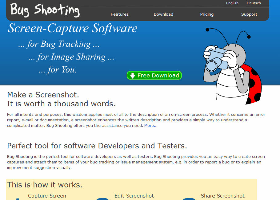 Bug Shooting - Screen Capture Software for Bug Tracking