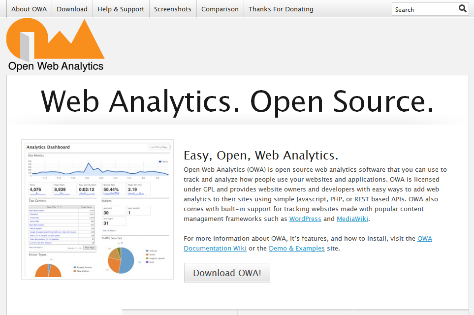 Open Source Web Analytics