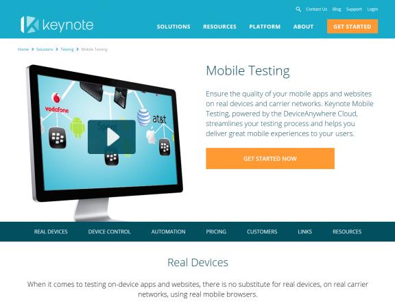 Keynote Mobile Testing
