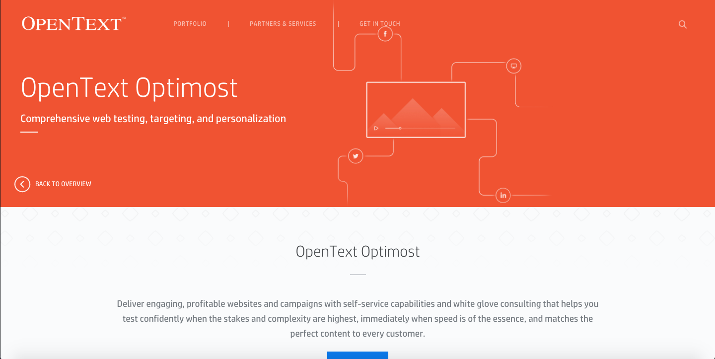 OpenText Optimost - engaging and converting online visitors