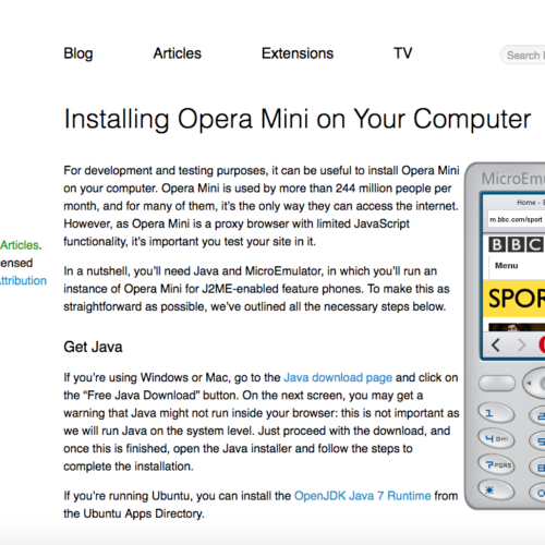 Opera Mini Simulator