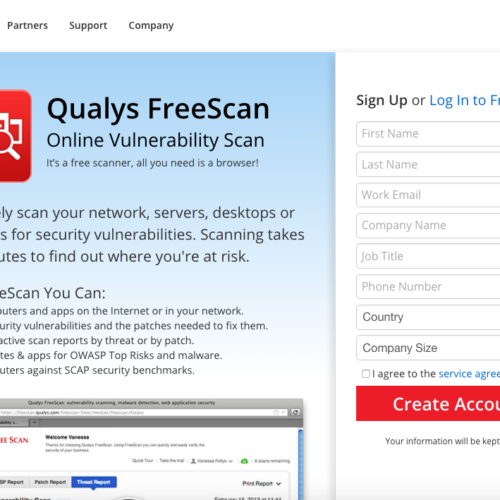 Qualys Freescan