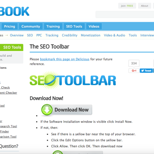 SEO Book Toolbar