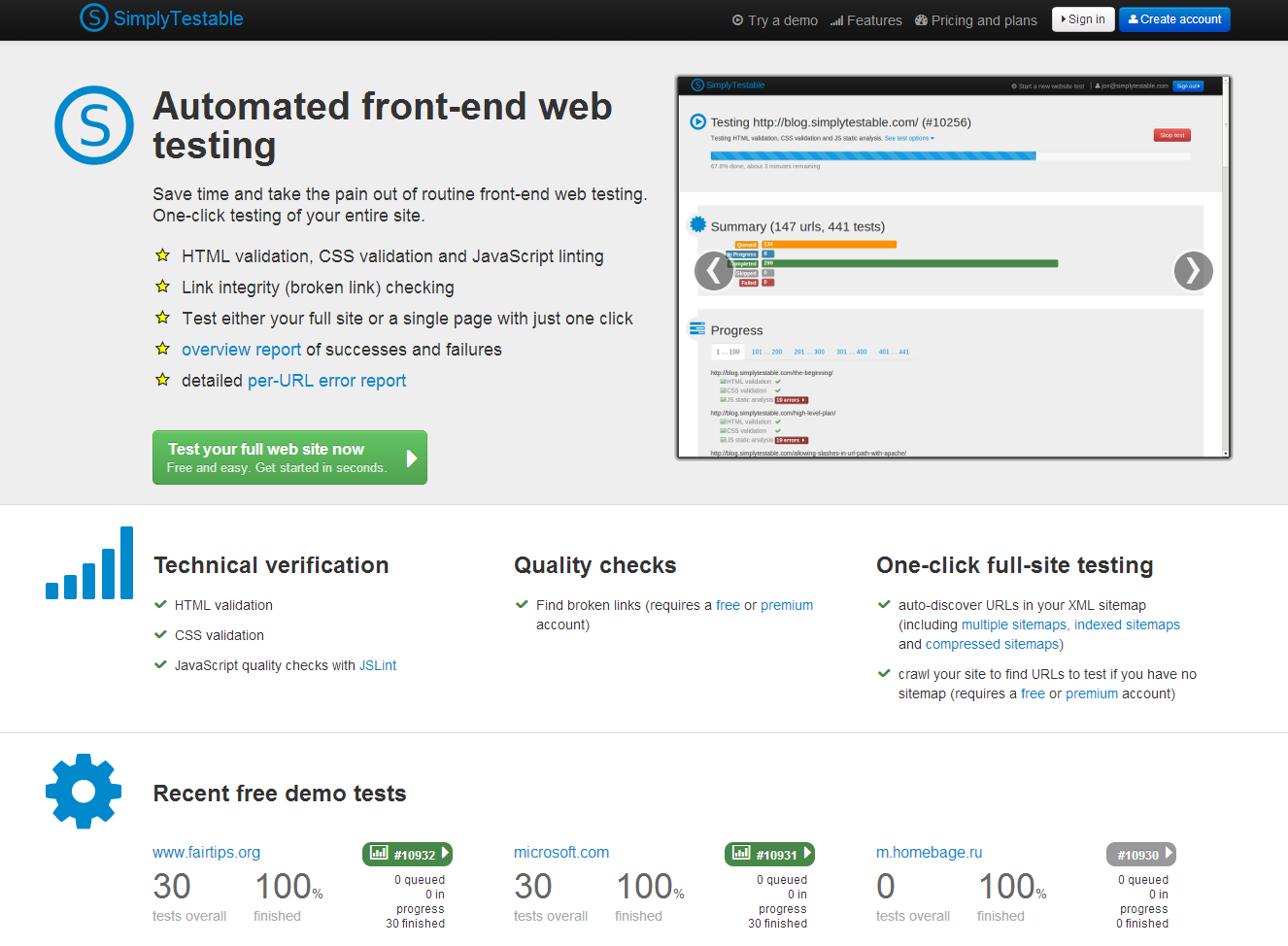 Simply Testable - automated front end testing