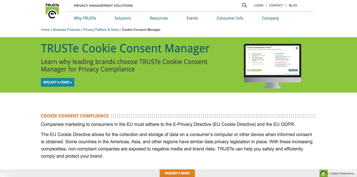 TRUSTe Cookie Consent Manager