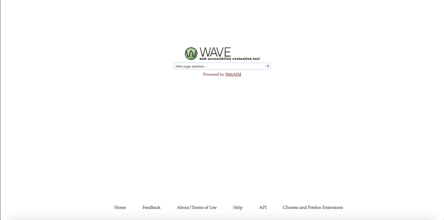 Wave - free website accessibility tool