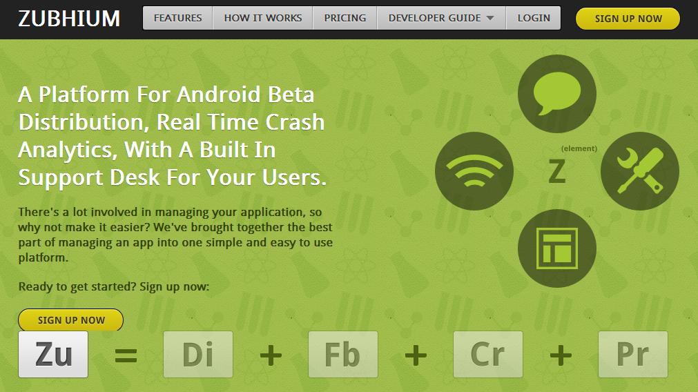 Zubhium Android App Testing