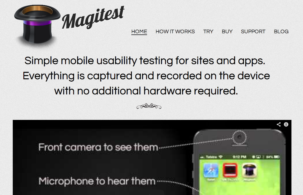 Magitest - Simple mobile usability testing for sites and apps