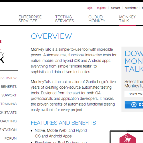 MonkeyTalk - automate real, functional interactive tests for mobile