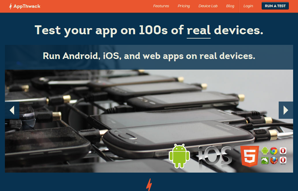 AppThwack - test your app on 100s of real devices