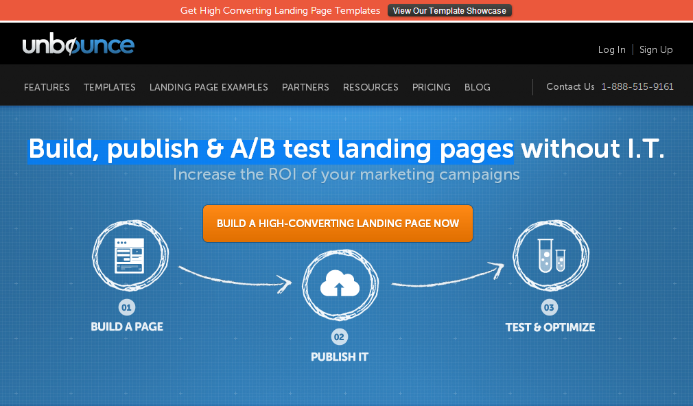 Unbounce - build, publish & test landing pages
