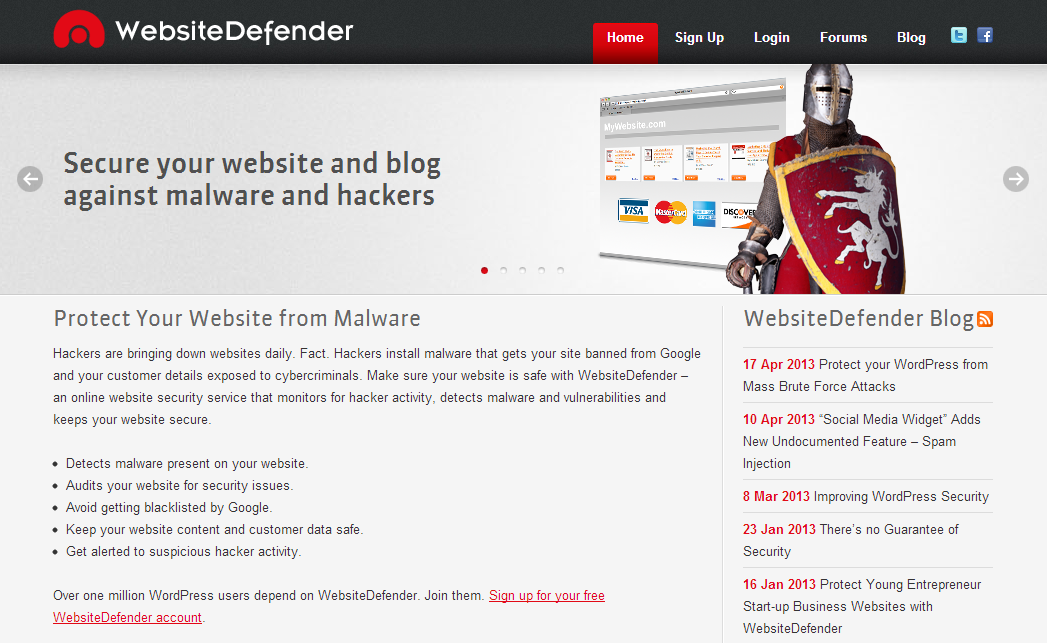 WebsiteDefender - Protect Your Website from Malware