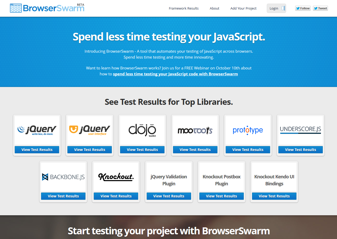 BrowserSwarm - Automated Testing Your JavaScript Across Browsers