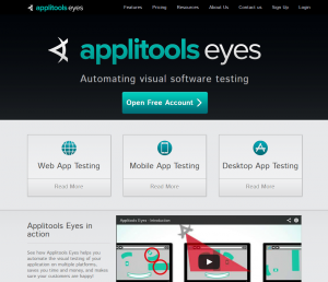 Applitools Eyes - Visual Test Automation
