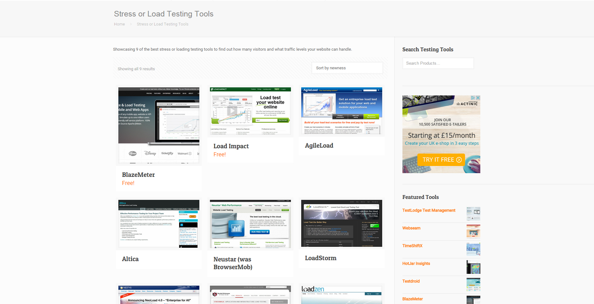 Load Testing - information and tools for load testing