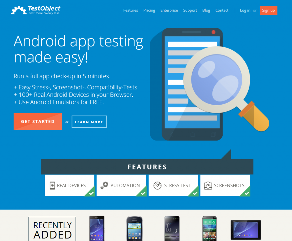 TestObject - mobile testing tool