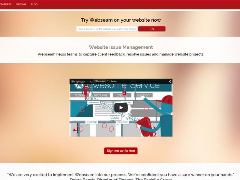 Webseam - bug tracking tool