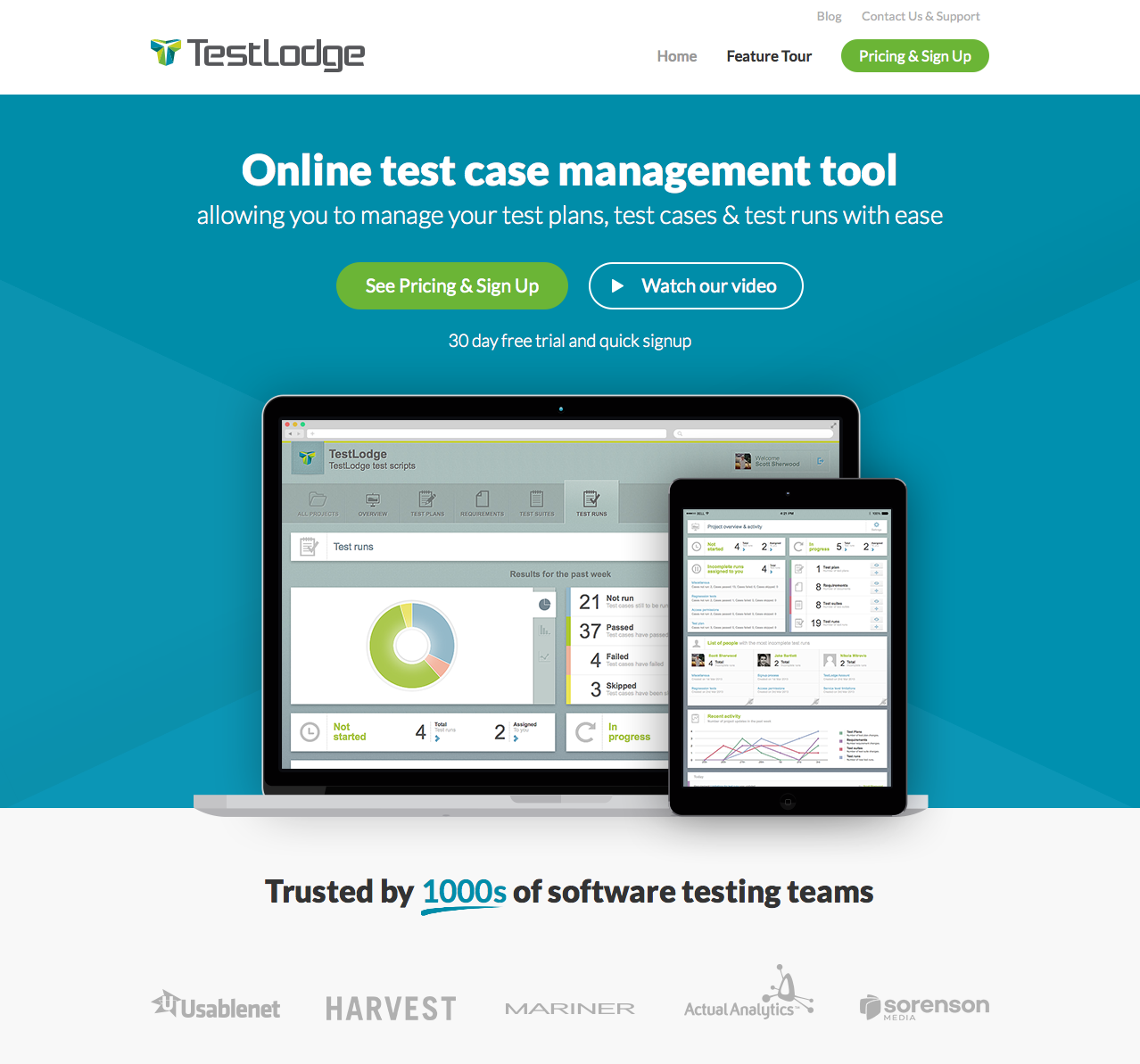 Online Test Case Management Tool