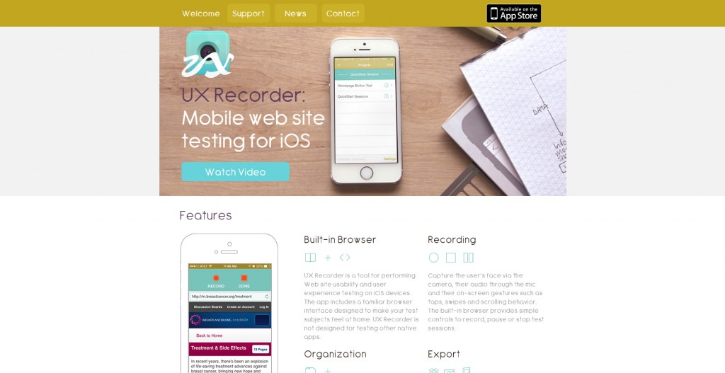UX Recorder - mobile testing