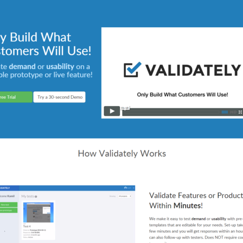 Validately - validate demand or usability