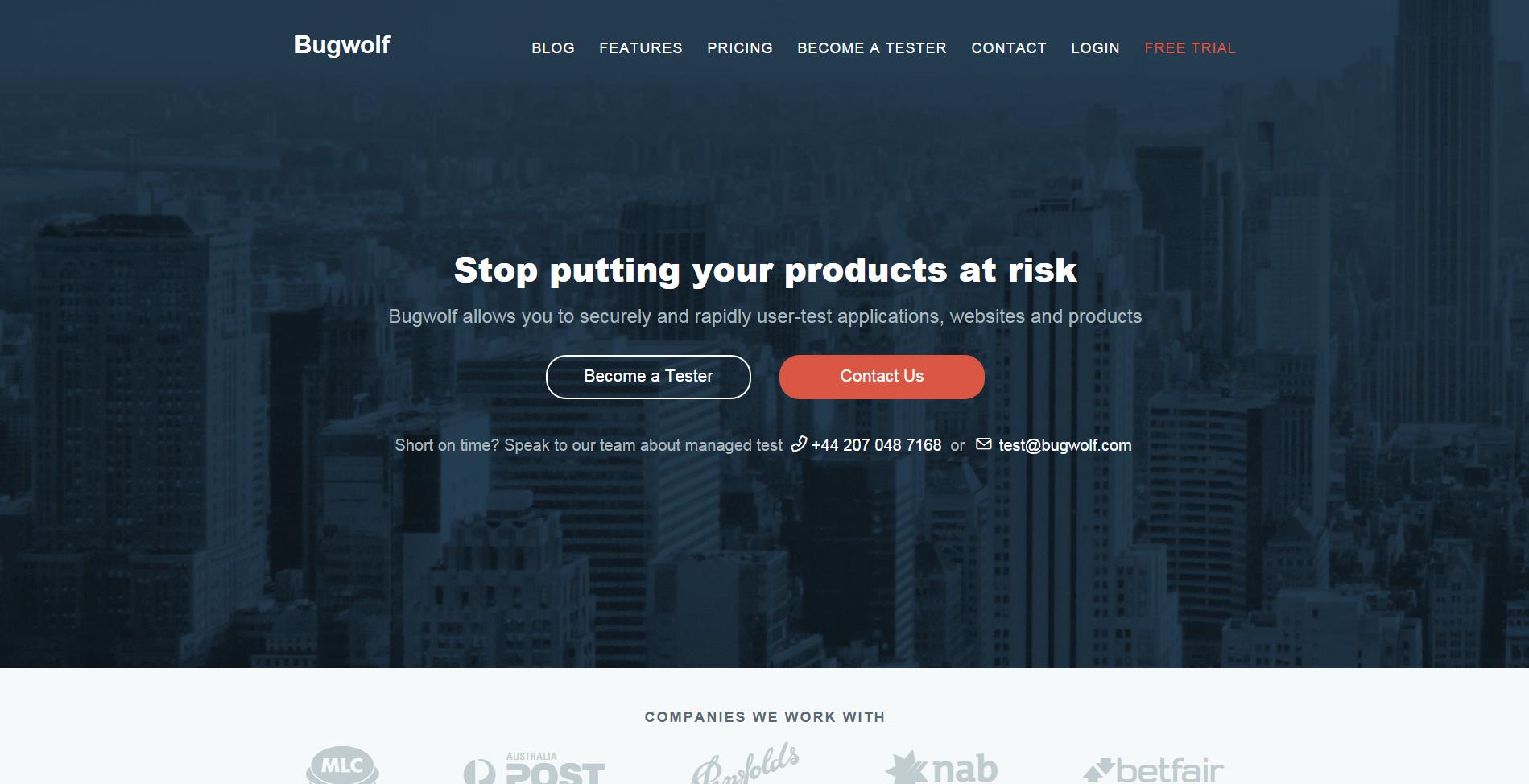 Bugwolf - crowdsourced beta testing