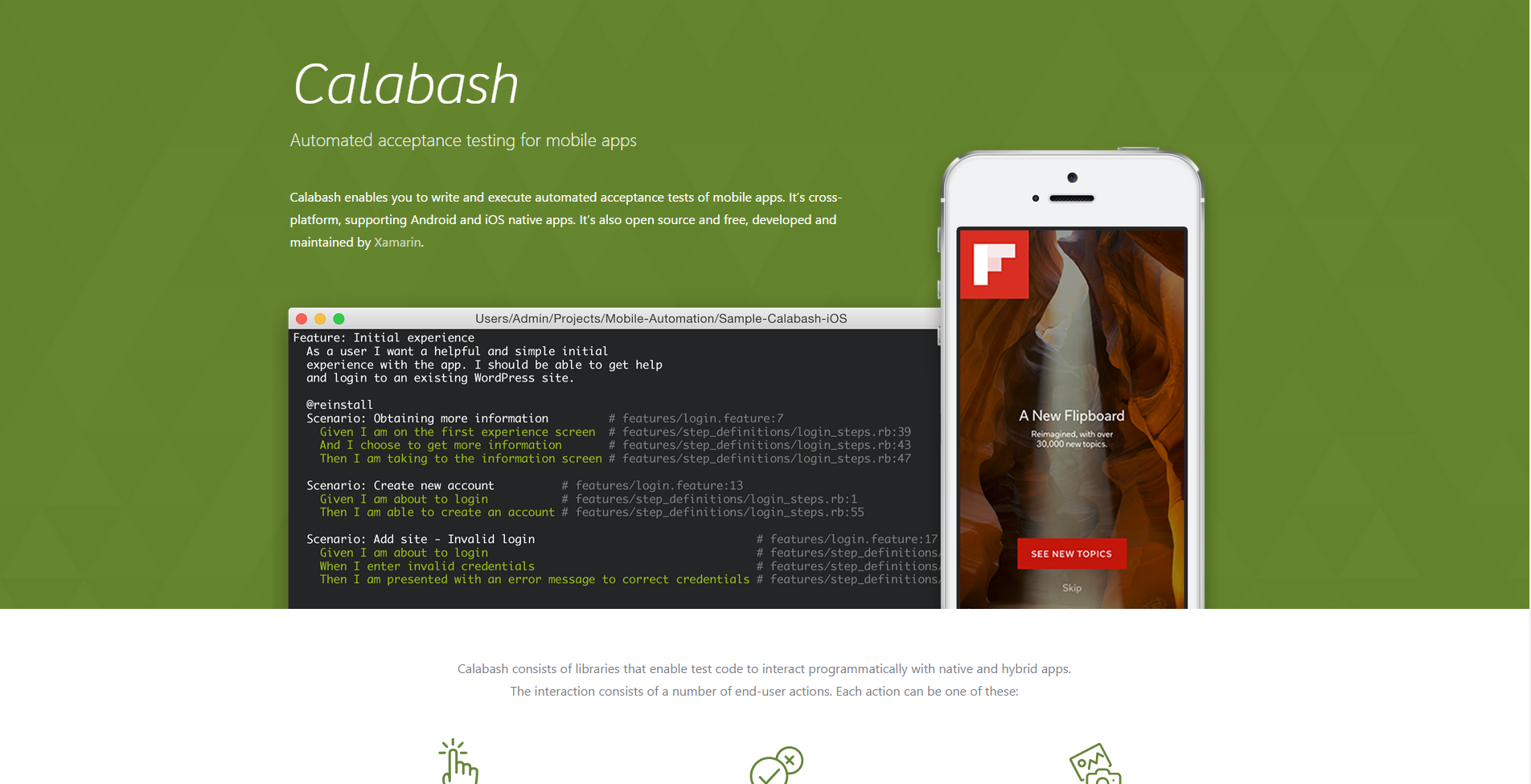 Calabash - automated acceptance testing for mobile