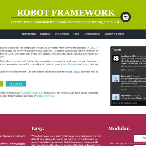 Robot Framework - automation for acceptance testing