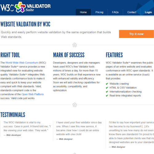 W3C Validator Suite - web validation by W3C