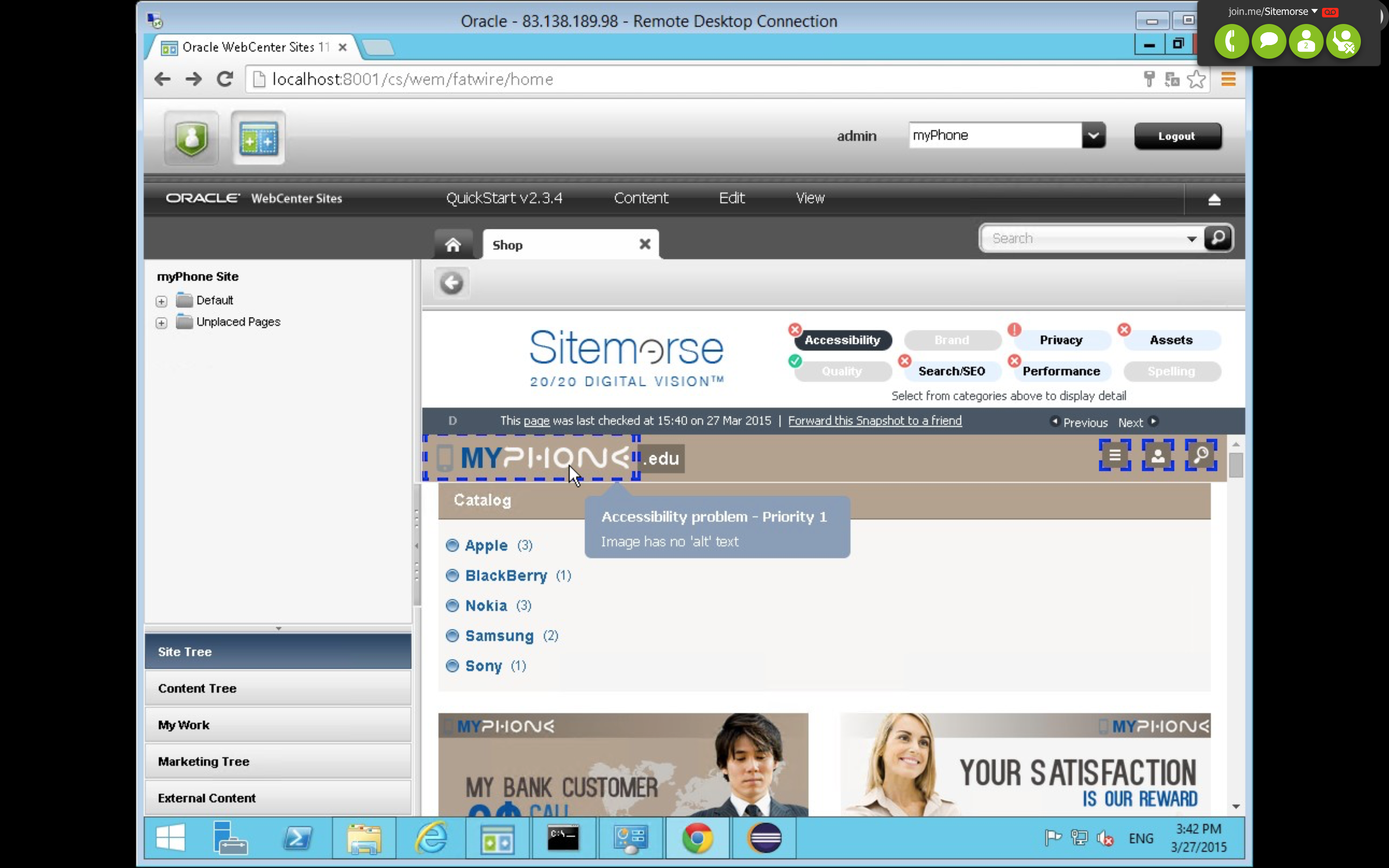 Sitemorse screenshot