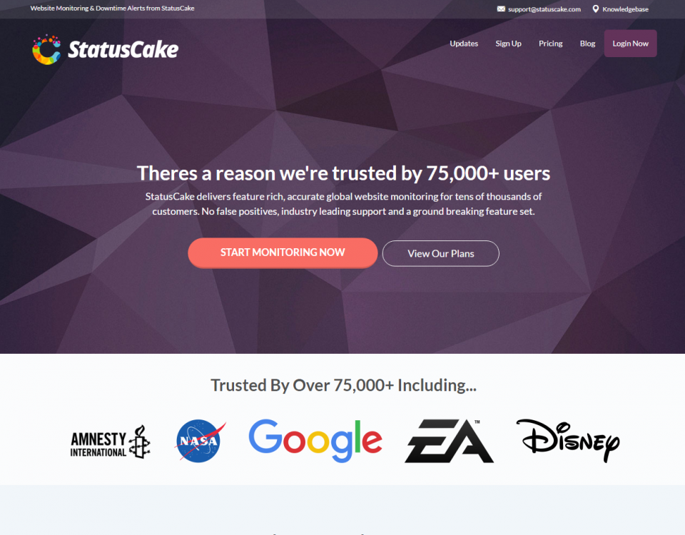 StatusCake - free website monitoring