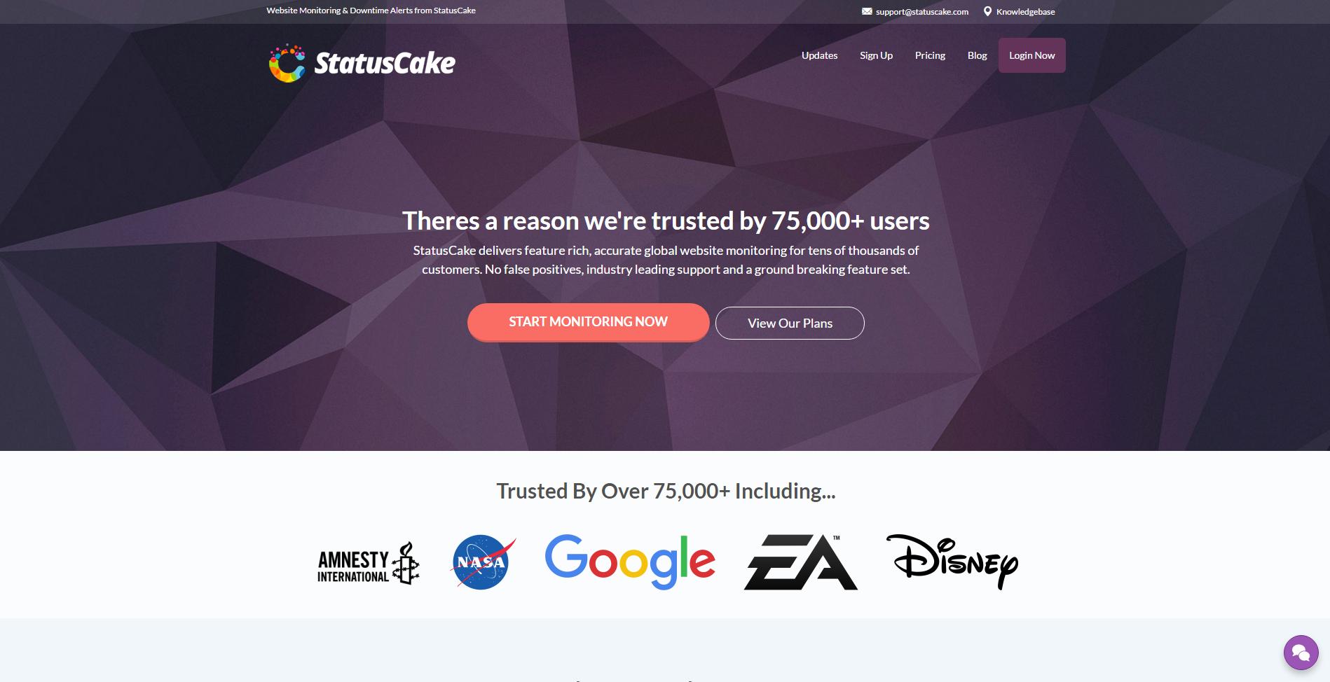 StatusCake - free website monitoring