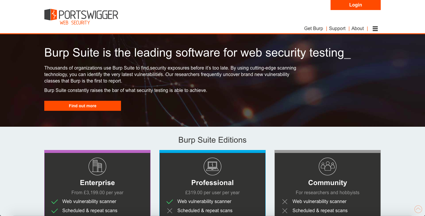 Burp Suite - leading software for web security testing