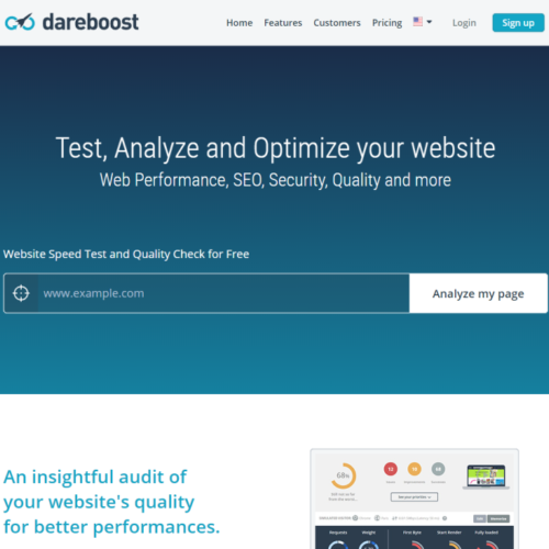 Dareboost - website speed test