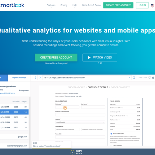 Smartlook - qualitative analytics