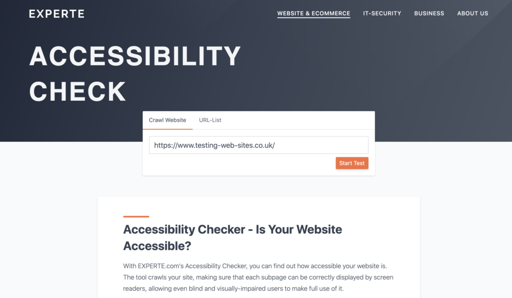 Enter the URL of a website to check
